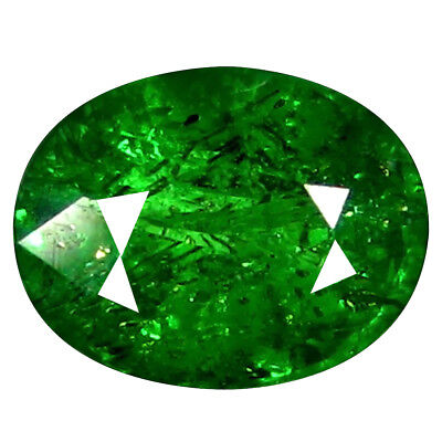 0.79 Ct Fabuleux Coupe Ovale (6 X 5 mm) Russe Tsavorite Grenade Libre