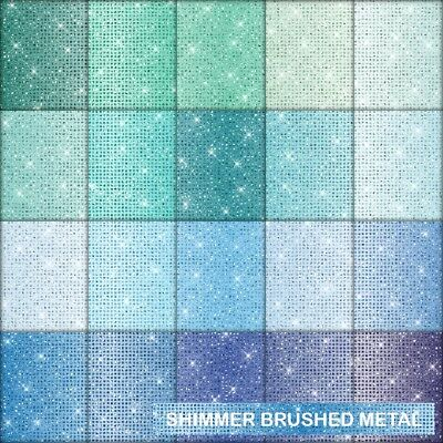 Shimmer Brushed Metal Look Scrapbook Paper - D - 20 A4 Pages