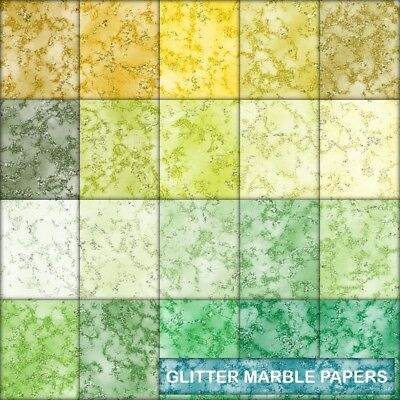 Texture Glitter Look Marble Scrapbook Paper - E - 20 A4 Pages