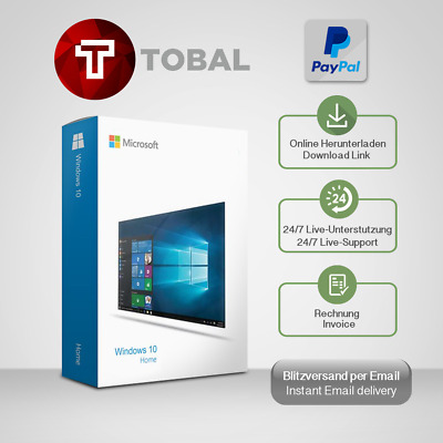 Windows 10 Home, Win 10 Home, 32&64 Bits, OEM, produkt-key per email