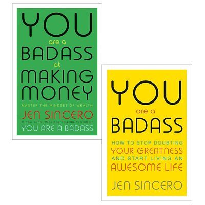 Jen sincero You are a badass 2 books collection set money making your greatness