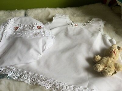 AUTHENTIC VINTAGE 70s UNUSED BABY GIRLS PETTICOAT AND MATCHING PANT 0/3 MONTHS