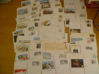 Germany 40 pre-stamped postcards - mint/used - some light pencil  - Ref IX3