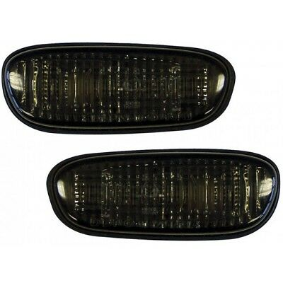Depo Side Marker Lights Repeaters Pair Smoked For Subaru Impreza 1993-1999