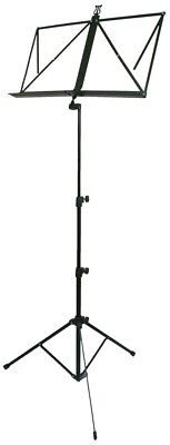 TGI Student Music Stand In Black , Extendable Score Arms MS10BK