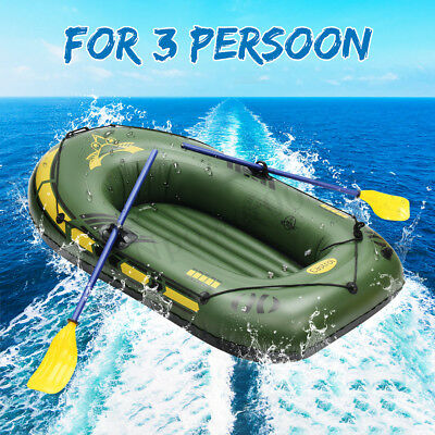 Inflatable Boat 2-3 Person Water Sports River Fishing Tender Dinghy Raft Set