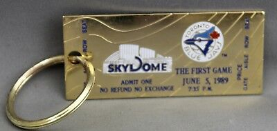 The First Game June 5, 1989 Skydome Key Chain Souvenir