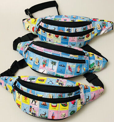 Loteria Fanny Pack Travel Bag Purse Waist Pouch Bag Wallet Mexican Bingo Cool