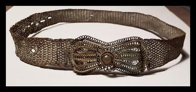 Greece Greek  Antique  Turkey Ottoman  Ioannina Art  Metal Filigree Belt Buckle