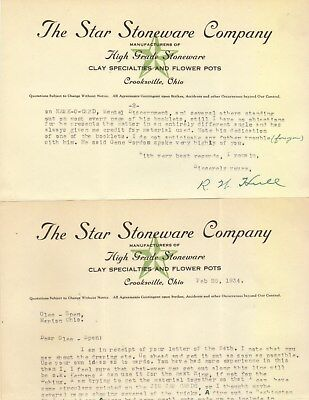 Star Stoneware Letterhead 2 Pages Signed R W Hull 1934