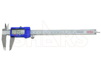 "SHARS 8"" 200mm Electronic Digital Caliper Stainless .0005"" FRACTION 1/128 New"