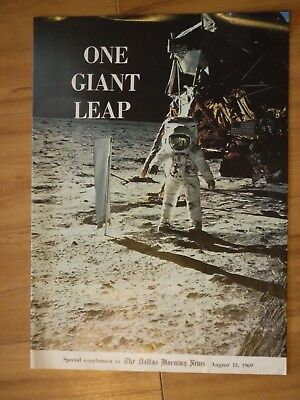One Giant Leap August 13, 1969 A Man On The MOON! Dallas Morning News