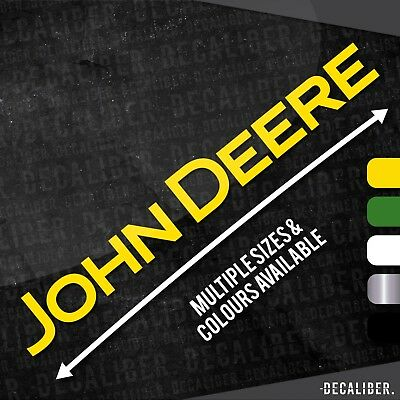 Long John Deere Sticker / Decal for Tractor / Car / Lawnmower / Farming / Agri