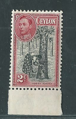 CEYLON unused Scott 278, SG 386 2c Tapping Rubber Tree w/selvage OG H