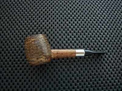 Missouri Meerschaum Corn Cob Tobacco Pipe Little Devil Cutty Straight Black Stem