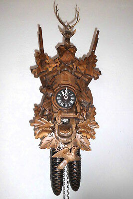 large vintage cuckoo clock black forest wall clock regula made in germany 8 day