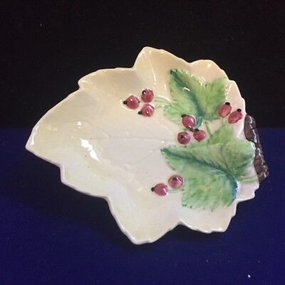 Carlton Ware  1930s Hand Painted Yellow leaf small dish Leaf/ berries