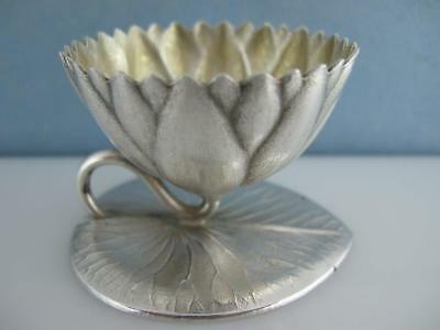 Sterling WHITING 3-D Water Lily Pad SALT CELLAR DISH holder AESTHETIC ~$195 each