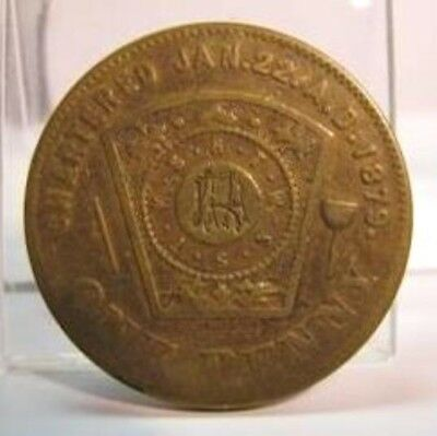 EARLY 1900s CADILLAC MICHIGAN CHAPTER NO. 103 R A M PENNY TOKEN - MARK: RM, MR