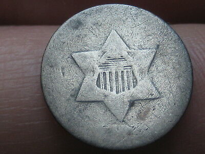 1851-1853 Three 3 Cent Silver Trime- Old Type Coin