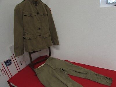 WWII US Army 32nd infantry division summer tunic and pants set.