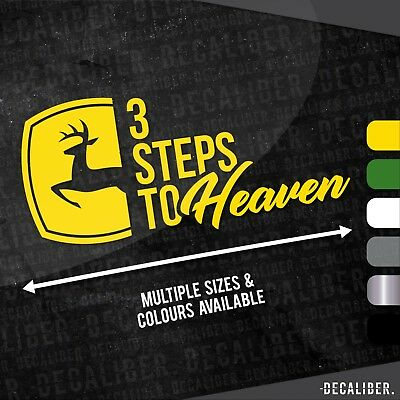 3 Steps to Heaven John Deere with Badge Emblem / Sticker / Decal for Tractor