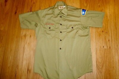 Boy Scouts Of America Official Shirt Boy's Medium/Large Men's Small Olive Green