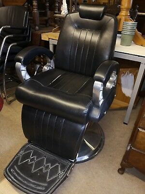 Lovely Black Leather Adjustable Barber Hairdressing Reclining Salon Chair