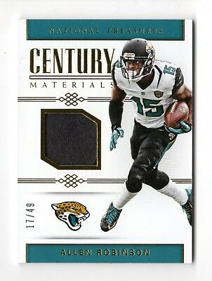 Allen Robinson Nfl 2017 National Treasures Century Materials #/49 (Jaguars,bears