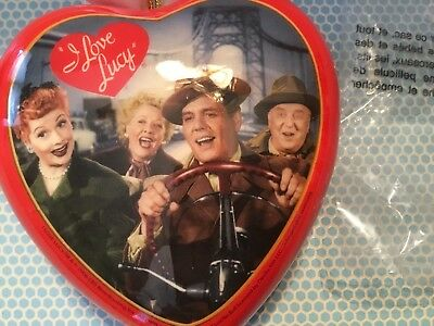 """2006 I Love Lucy Christmas Heart Ornament. """"On There Way To California """""""