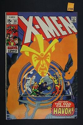 Vintage 1969 Marvel No. 58 The X-Men Comic Book Havok 328