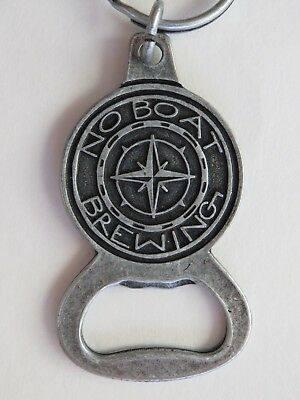 Key Chain Metal Bottle Opener ~ NO BOAT Brewing Co ~ Snoqualmie, WASHINGTON