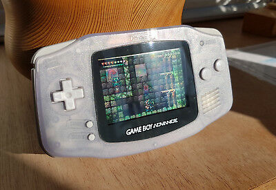 Nintendo Game Boy Advance Clear Handheld 2001 Boxed Excellent Condition