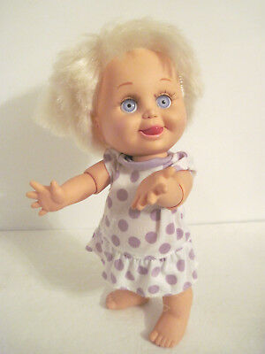 """Vintage GALOOB 1990 BABY FACE-""""SO DELIGHTFUL DEE DEE"""" -Lilac Eyes, Poseable"""
