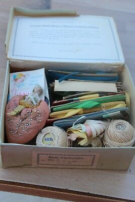 Lot Vintage sewing notions Supplies buttons thread needles misc. etc.