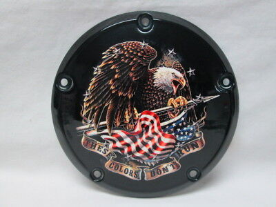 Harley Davidson Custom 5 Hole Derby Cover - These Colors Don't Run