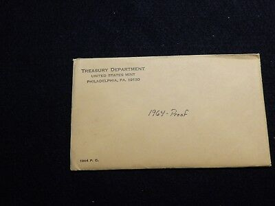 1964 Proof Set ~ Original Envelope With COA ~ US Silver Mint Coin Set