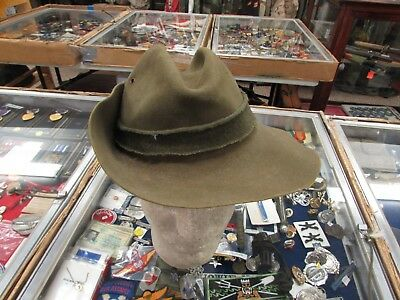 WWII Australian Commonwealth digger hat with badge best guess size 7-1/4.