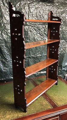 Antique Carved Mahogany Display Shelves