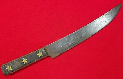 Vintage Fixed Blade Trade/bag Knife With Stars In Handle.