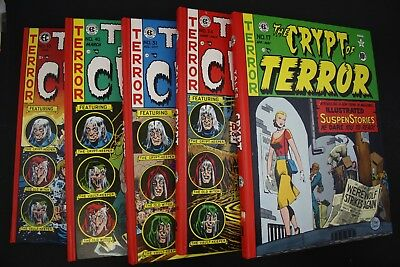Vintage 1979 EC Tales From the Crypt Comic Book Hard Cover Complete 5 Vol Set (1