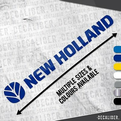 Long New Holland with Badge / Emblem / Sticker / Decal for Tractor / Car / Agri