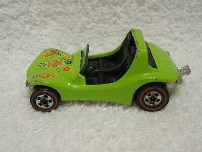 Vintage 1969 Mattel Hot Wheels Redlines Dune Daddy Green Buggy