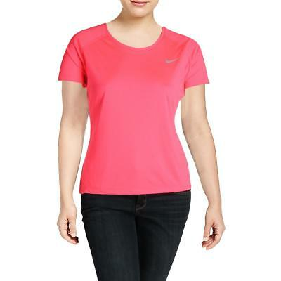 Nike Womens Miler Pink Colorblock Pullover Top Athletic Plus 1X BHFO 7028