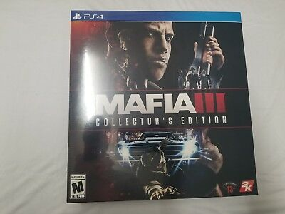 Mafia III 3 Collectors Edition PlayStation 4 Ps4 Games Factory Sealed New Sony