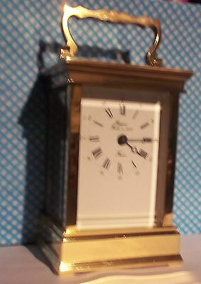 ATTRACTIVE L'EPEE (for RAPPORT) TIMEPIECE CARRIAGE CLOCK-QUALITY FRENCH MAKER