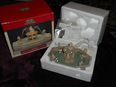 Lemax Village Collection Village Square Fountain In Box 2001 #14663Am