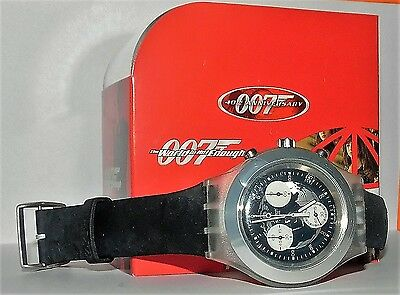 "Swatch James Bond 007 Special ""the World Is Not Enough"" Neu Top Ovp"