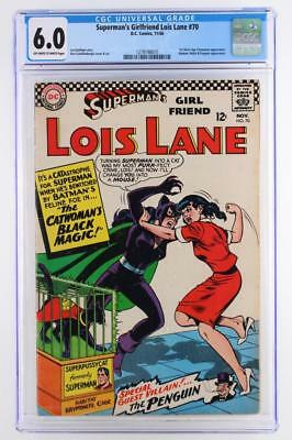Superman's Girlfriend Lois Lane #70 - CGC 6.0 FN - DC 1966 - 1st SA Catwoman App