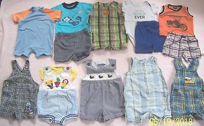 736fb4909 PREOWNED BOYS SMOCKED Rompers Lot Of 17 Various Strasburg Petit Bebe ...